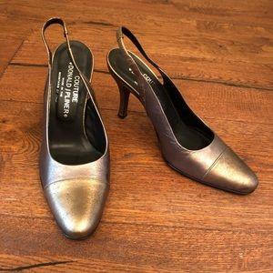 Metallic Donald J Pliner heels
